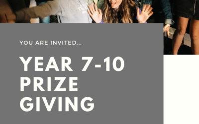 Year 7-10 Prizegiving 2019